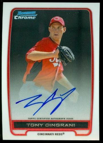 Photo of 2012 Bowman Chrome Prospect Autographs #TC Tony Cingrani