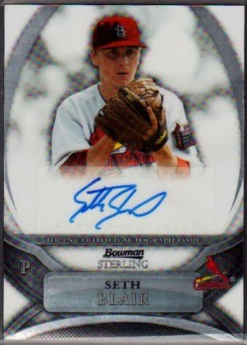 Photo of 2010 Bowman Sterling Prospect Autographs #SB Seth Blair
