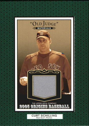 Photo of 2005 Origins Old Judge Materials Jersey #CS Curt Schilling