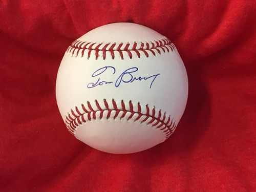 Photo of Tom Browning Autographed Baseball