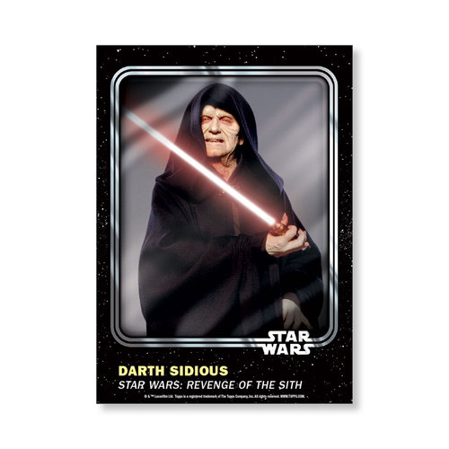 Darth Sidious 2016 Star Wars Card Trader Base Poster - # to 99