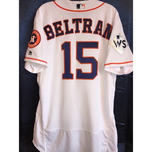 2017 World Series Game 4 - Carlos Beltran Game-Used Home Jersey