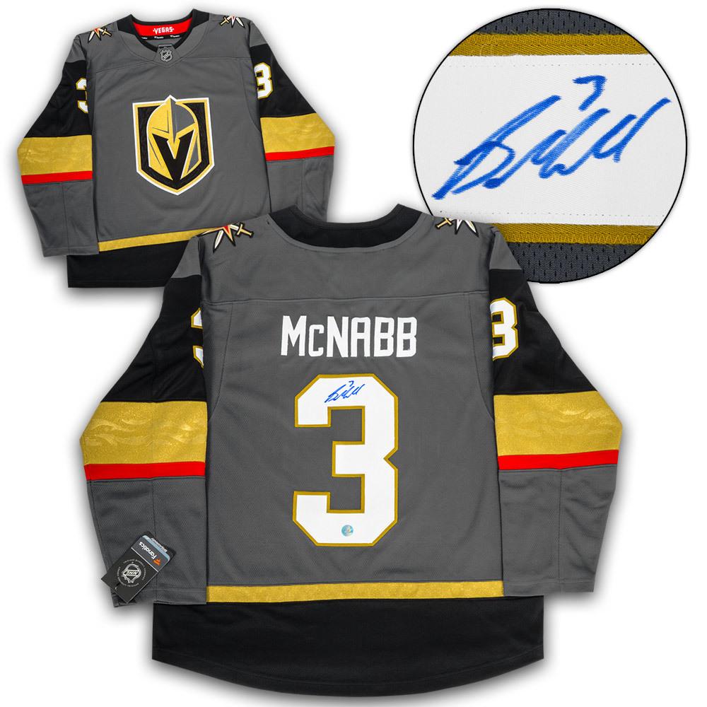 Brayden McNabb Vegas Golden Knights Autographed Fanatics Replica Hockey Jersey