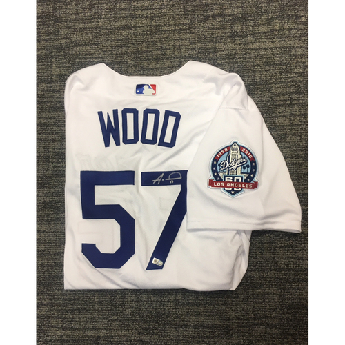 Photo of LADF Blue Diamond Gala Auction: Alex Wood Authentic Autographed Jersey (Size 48)