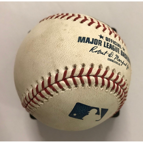 Photo of Dansby Swanson Game-Used Hit Double Baseball - 7/15/2018