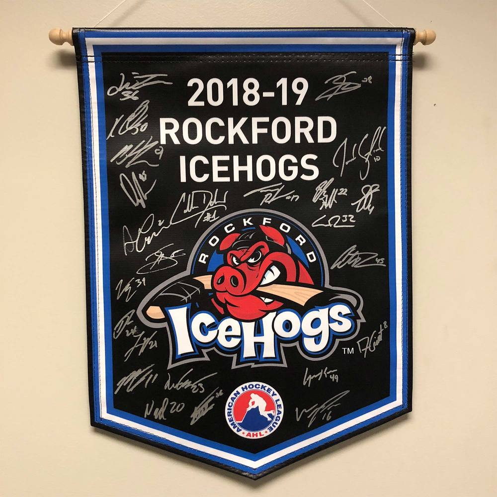 2018-19 Rockford IceHogs Team-Signed Banner