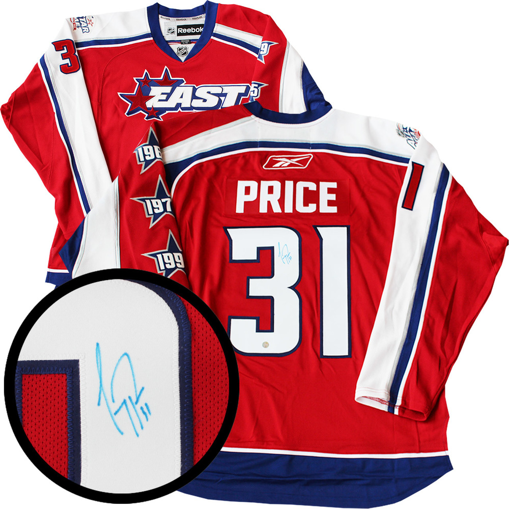huge selection of 53306 ea663 Carey Price Signed Jersey All-Star 2009 Red Replica - NHL ...