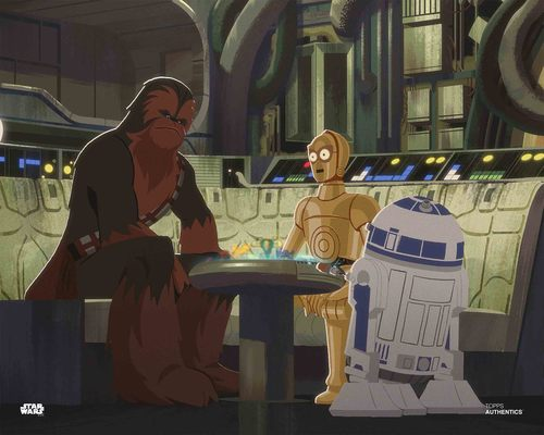 C-3PO, R2-D2 and Chewbacca
