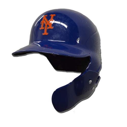 Photo of Wilmer Flores #4 - Team Issued Blue Home Batting Helmet - 2018 Season