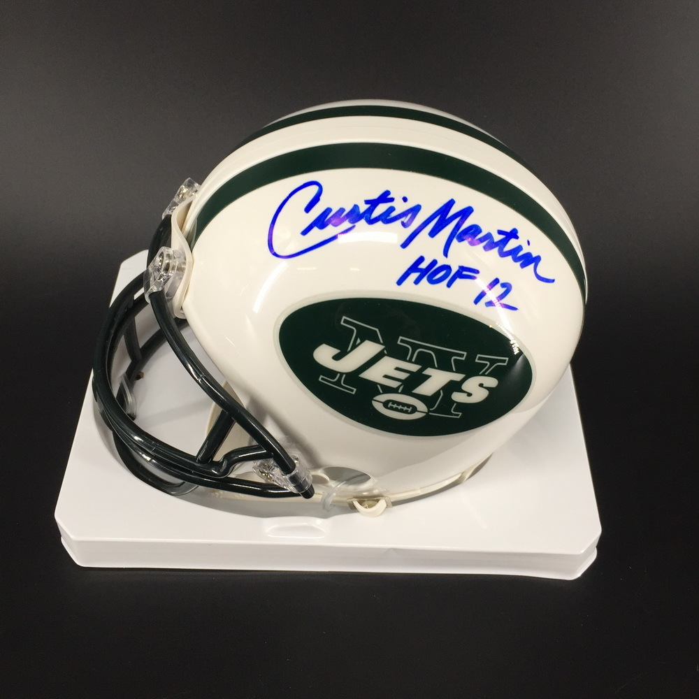 HOF - Curtis Martin Jets Signed Mini Helmet