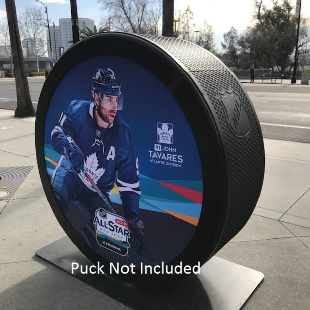 2019 NHL All Star Game Banner Featuring John Tavares (Toronto Maple Leafs)