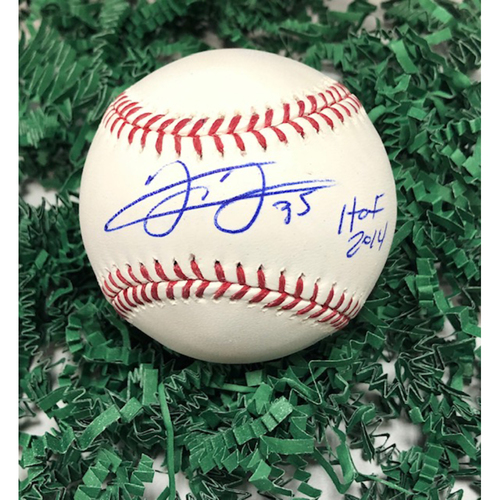 Photo of Frank Thomas Autographed Baseball with HOF Inscription