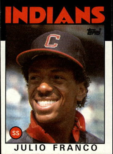 Photo of 1986 Topps #391 Julio Franco