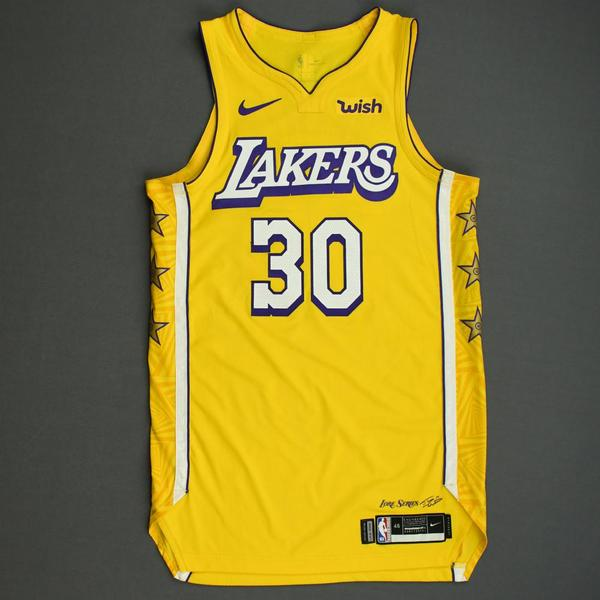 Image of Troy Daniels - Los Angeles Lakers - Christmas Day' 19 - Game-Worn City Edition Jersey - Dressed, Did Not Play