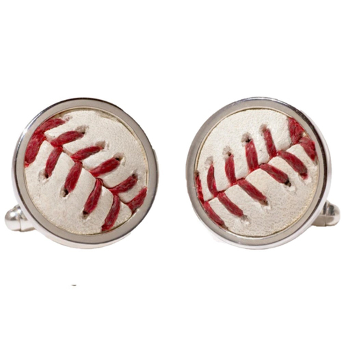 Photo of Game-Used Baseball Cufflinks: Salvador Perez Hit