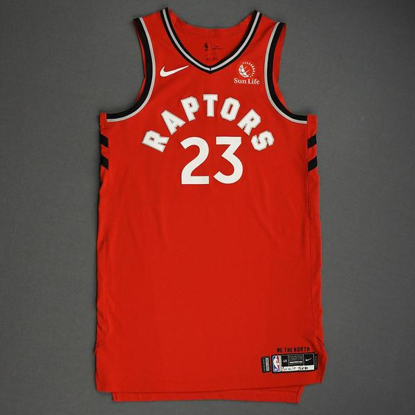 Image of Fred VanVleet - Toronto Raptors - Game-Worn Icon Edition Jersey - NBA Japan Games - Double-Double - 2019-20 NBA Season