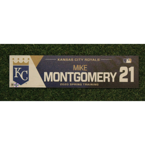 Photo of Game-Used Spring Training Locker Tag: Mike Montgomery #21