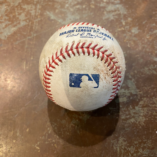 Photo of 2020 Game Used Baseball - Tim Locastro (AZ) Home Run - 9/6/2020 @ SF - Top 1st: Cueto to Locastro - Home Run to CF