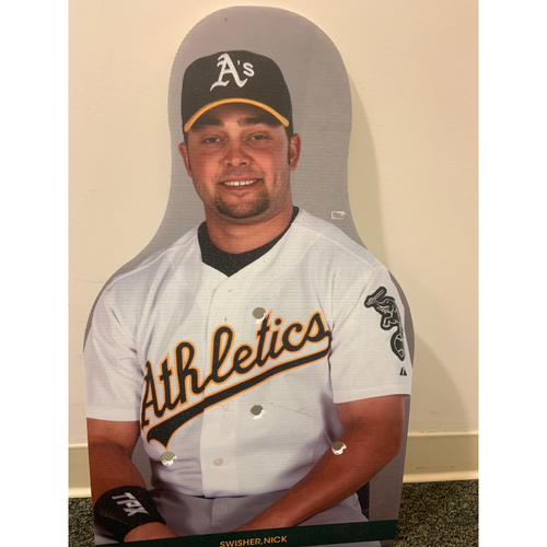 Photo of Oakland A's Community Fund: Nick Swisher Coliseum Cutout