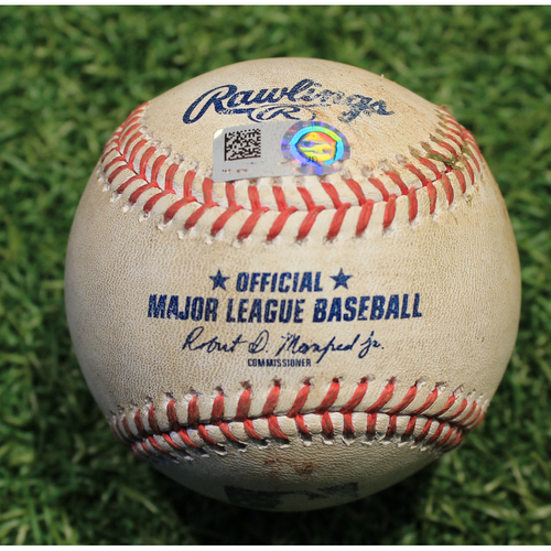 Photo of Game-Used Baseball: Ildemaro Vargas 69th Career Hit (MIN @ KC 8/21/20)
