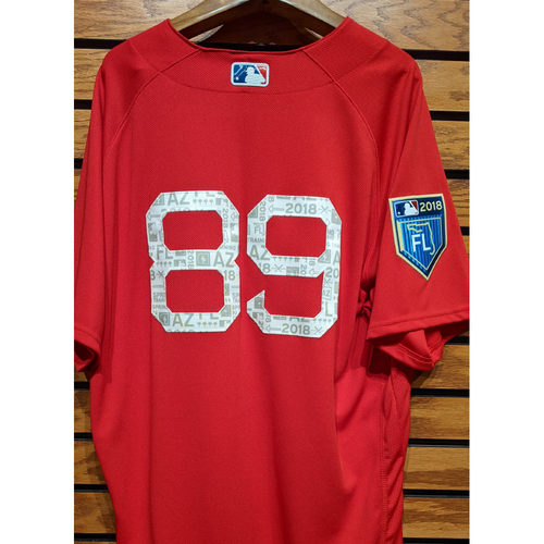 Photo of 2018 Spring Training #89 Team Issued Red Jersey