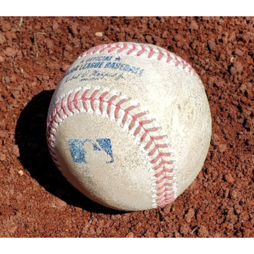 Photo of 2021 Phillies Game-Used Baseball - Jacob deGrom 102 MPH Pitch (Didi Gregorius Single)