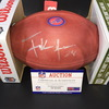 Bills - Frank Gore Signed Authentic Football w/ 100 seasons and Bills Logo