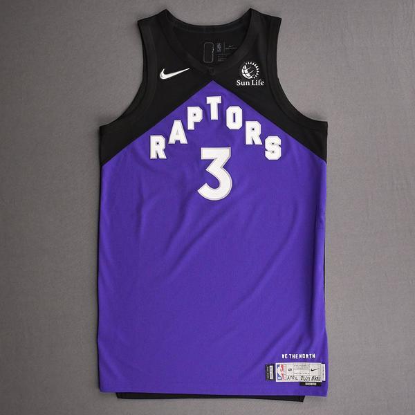 Image of OG Anunoby - Toronto Raptors - Game-Worn Earned Edition Jersey - Scored 25 Points - 2020-21 NBA Season