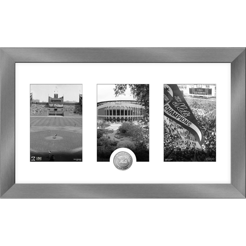 Photo of New York Mets Art Deco Silver Coin Photo Mint