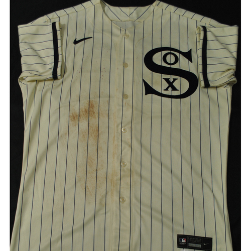2021 New York Yankees vs. Chicago White Sox in Dyersville, Iowa - Game-Used 1919 Throwback Jersey - Luis Robert - Size 46