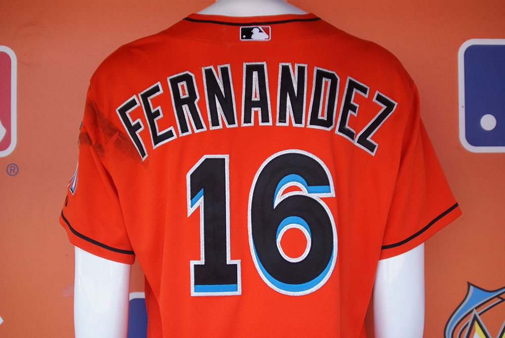 sports shoes f44aa c2a30 MLB Auctions | 2015 Auction: Jose Fernandez Game-Used Jersey ...