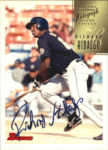 Photo of 1997 Bowman Certified Black Ink Autographs #CA38 Richard Hidalgo