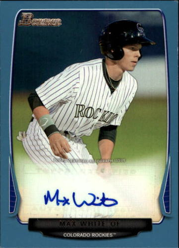 Photo of 2013 Bowman Prospect Autographs Blue #MW Max White