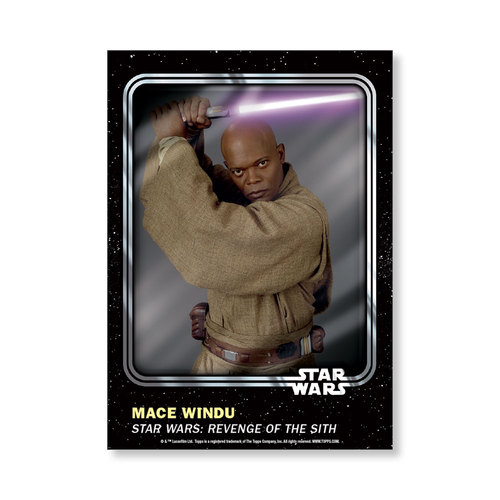 Mace Windu 2016 Star Wars Card Trader Base Poster - # to 99