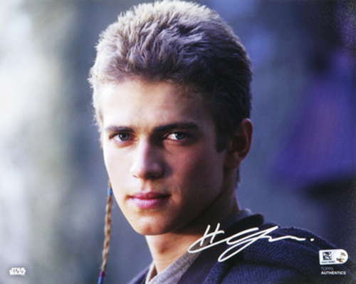 Hayden Christensen as Anakin Skywalker 8x10 Autographed in Silver Ink Photo