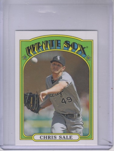 Photo of 2013 Topps 1972 Topps Minis #TM14 Chris Sale -- Red Sox post-season