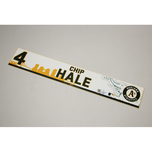 Chip Hale 2017 Home Clubhouse Locker Nameplate