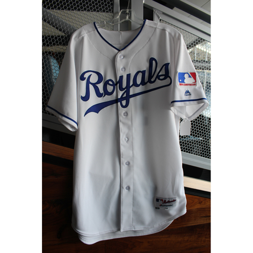 Photo of Game-Used 1969 Throwback Jersey: Jorge Soler (Size 44 - NYY at KC - 5/19/18)