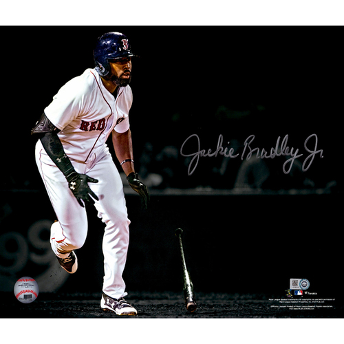 "Photo of Jackie Bradley Jr Boston Red Sox Autographed 11"" x 14"" Spotlight Photograph"