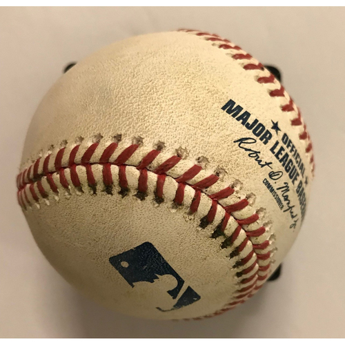 Photo of Ender Inciarte Game-Used Hit RBI Triple Baseball - 8/14/2018