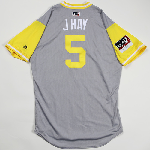 "Photo of Josh "" J Hay"" Harrison Pittsburgh Pirates Game-Used Jersey 2018 Players' Weekend Jersey"
