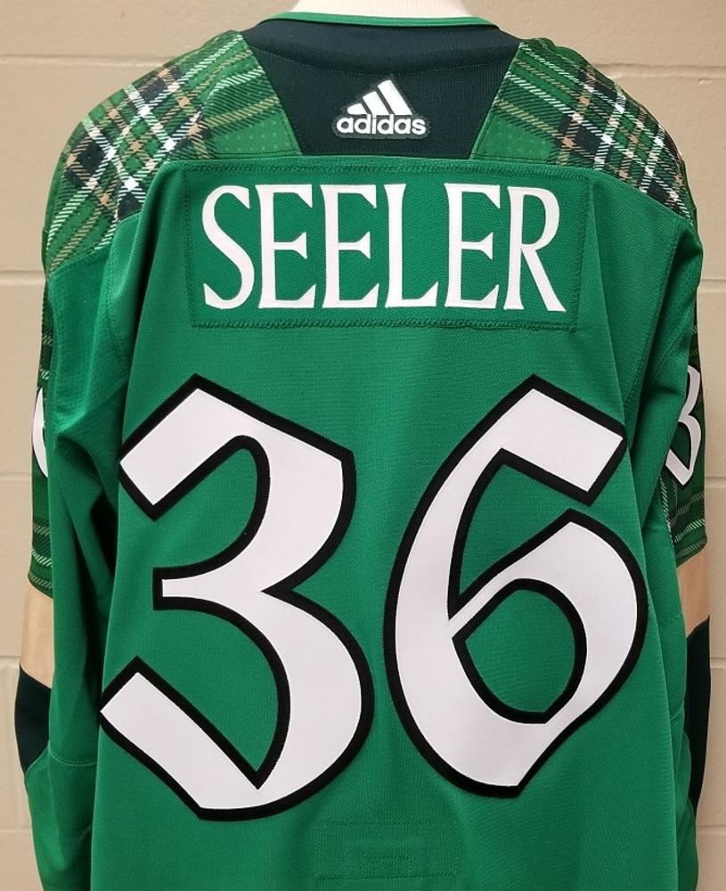 Nick Seeler Minnesota Wild 2019 St. Patty's Day Warm-Up Jersey