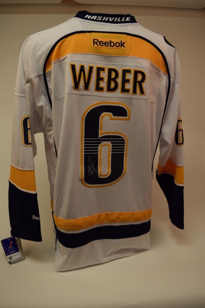 Chandail des Prédateurs de Nashville autographié par Shea Weber   Shea Weber autographed Nashville Predators jersey