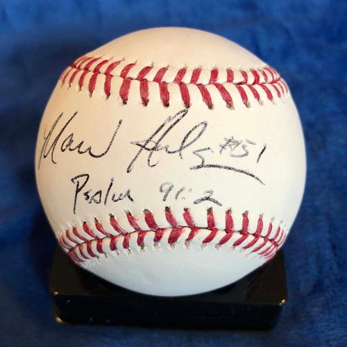 Photo of UMPS CARE AUCTION: Marvin Hudson Signed Baseball