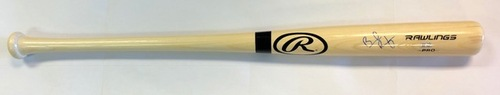 Photo of Brendan Rodgers Autographed Blonde Rawlings Bat