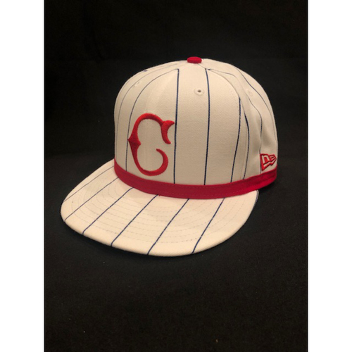 Photo of Michael Lorenzen -- Game-Used Cap -- 1919 Throwback Game -- Nationals vs. Reds on June 2, 2019 -- Size 7 1/8