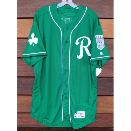 Photo of Team-Issued St. Patrick's Day Jersey: Reggie Sanders (Size - 48)