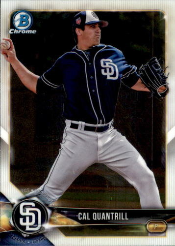 Photo of 2018 Bowman Chrome Draft #BDC195 Cal Quantrill