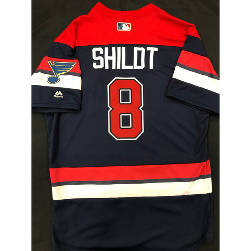 Photo of Mike Shildt Team Issued 2019 St. Louis Blues Themed Cardinals Jersey (Size 44)