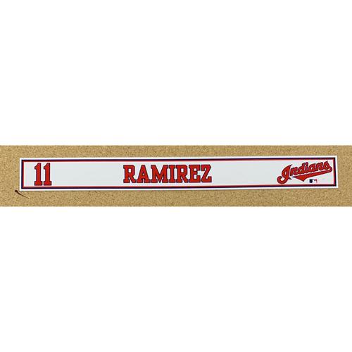 Photo of Jose Ramirez 2020 Spring Training Game-Used Locker Name Plate